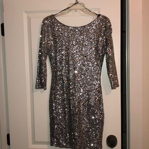 Gianni Bini Silver Sequin Mini